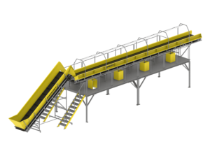 Waste sorting line (MSW) up to 10,000 tons per year