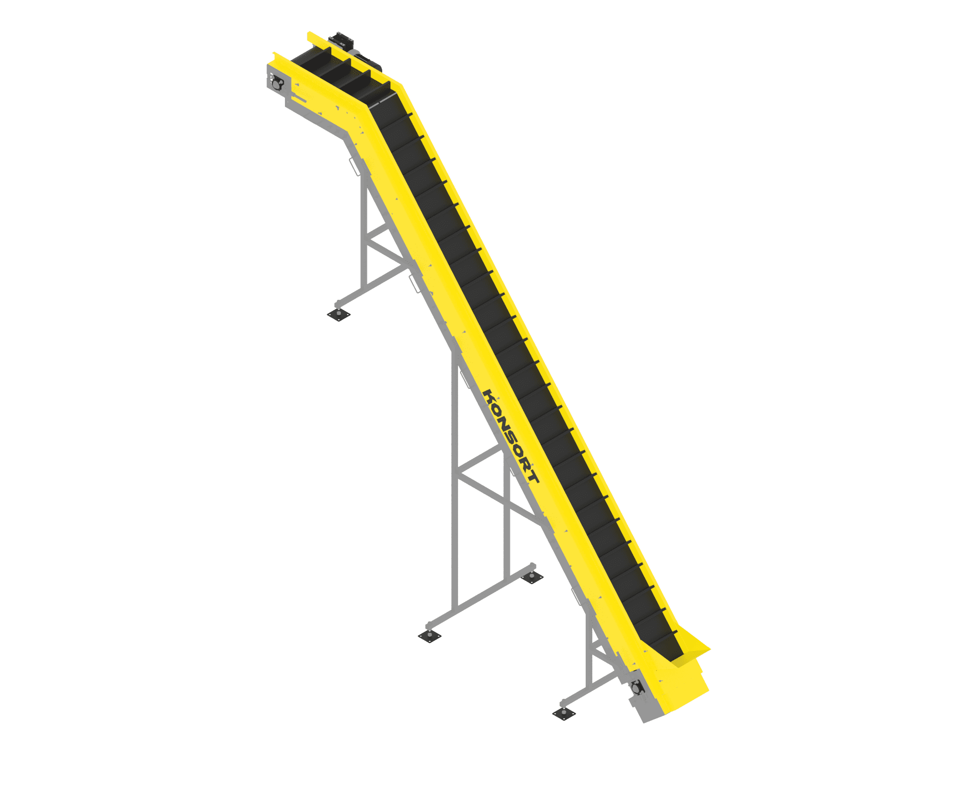 Conveyor (with kink) L-shaped