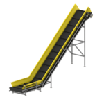 L-shaped conveyor