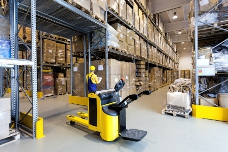 Preventive maintenance and replacement of component materials for warehouse equipment