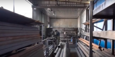 Cutting section of high-grade metal-rolled metal