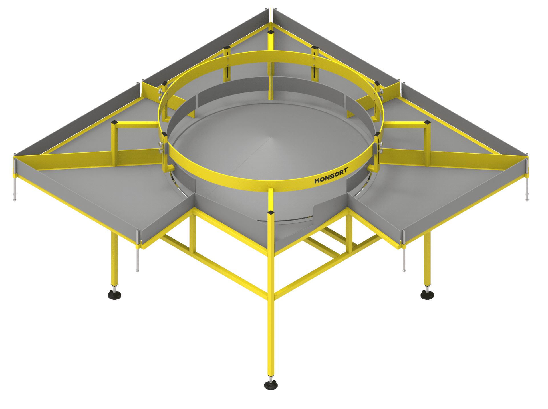 Calibration table for apples (rotary calibrator for round products)
