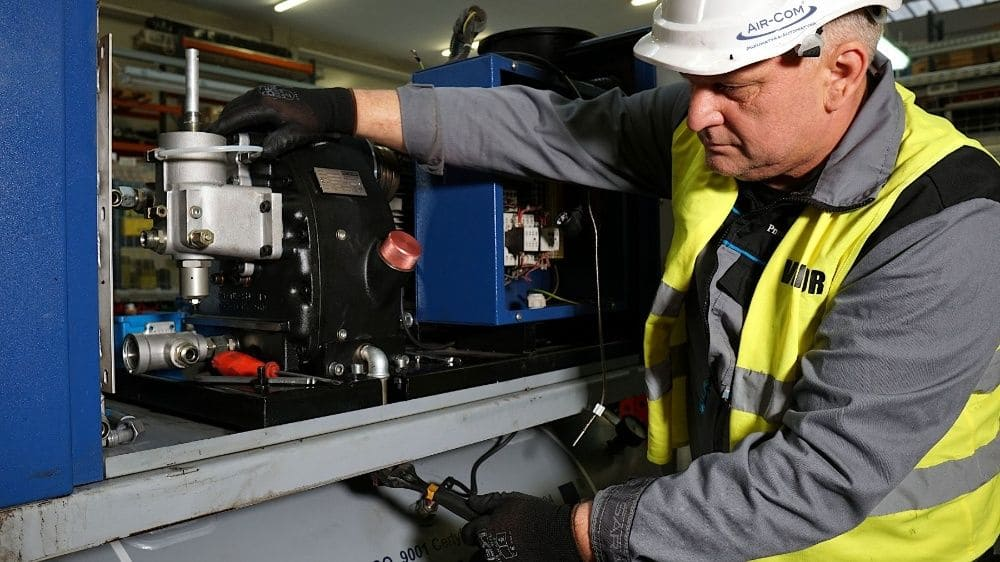 Repair and maintenance of air compressors